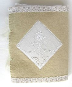 """Back cover of """"Winter Poems"""", a note book with textile (vintage cotton) pages http://www.artymoods.com https://www.etsy.com/ie/shop/ArtyMoods"""