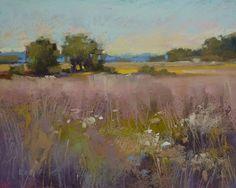 Art Original Pastel Painting Peaceful by KarenMargulisFineArt, $145.00