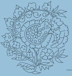 İSMEK.... Cute Embroidery Patterns, Sewing Machine Embroidery, Embroidery Designs, Jacobean Embroidery, Folk Embroidery, Turkish Pattern, Pattern Pictures, Brazilian Embroidery, Doodle Patterns