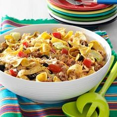 Crowd-Pleasing Taco Salad Recipe from Taste of Home -- shared by Ann Cahoon of Bradenton, Florida