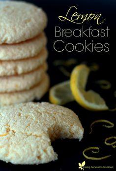 Lemon Breakfast Cookies :: Gluten, Nut & Refined Sugar Free With Grain/Egg/Dairy Free Options