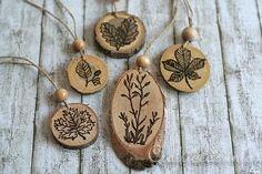 Wood Craft for Autumn - Wood Burned Ornaments
