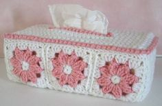 Maggie's Crochet · Free Floral Tissue Box Cover Pattern ~ nice for the Boudoir -- or, for invalids or bedridden patients, for convalescence, sickbed... helps cheer them up, knowing someone cared enough to personalize their environment