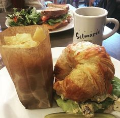 Lunch at Cafe Selmarie in Lincoln Square.