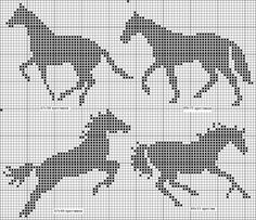 horse pattern / - Other - gabbach Cross Stitch Horse, Cross Stitch Animals, Cross Stitch Charts, Cross Stitch Patterns, Filet Crochet, Crochet Chart, Crochet Horse, Crochet Animals, Cross Stitching