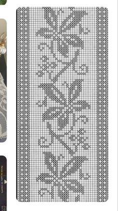 Копия 54 - Her Crochet - fair isle Cross Stitch Pillow, Cross Stitch Bookmarks, Cross Stitch Borders, Crochet Borders, Crochet Chart, Cross Stitch Flowers, Crochet Motif, Cross Stitch Designs, Cross Stitch Patterns