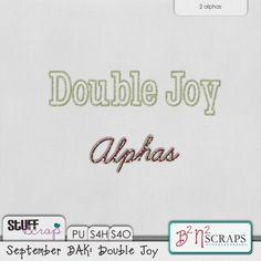September BAK: Double Joy Alphas -B2N2 Scraps