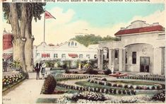 Postcard Largest Moving Picture Studio in the World at Universal City, California History, Vintage California, Universal City California, San Fernando Valley, Old Tv Shows, Studio City, Hollywood Studios, Moving Pictures, Old Postcards