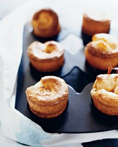 Yorkshire Pudding - Reserved drippings from the rib-roast fat add richness to this Yorkshire pudding. Popover Recipe, Standing Rib Roast, Prime Rib Roast, Prime Rib Dinner, Roast Beef, English, Rolls Recipe, Yorkshire Pudding Recipe Martha Stewart, Yorkshire Pudding Recipes