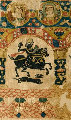 Fragment of Coptic fabric, 5th century. Met Museum