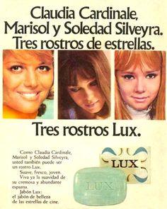 Tres rostros para jabón LUX. Publicidad década del 70.