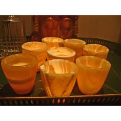 Set of 8 Flower Pot Votives