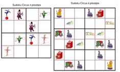 Sudoku Circus 3 met 4 plaatjes en 1 met 6 plaatjes Holiday Decor, Occupational Therapy, Theater, Image, Occupational Therapist, Theatres, Teatro, Theatre