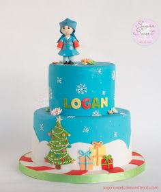 Christmas Hanbok First Birthday Cake - by SugarSweet @ CakesDecor.com - cake decorating website