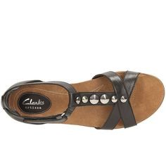 51c8d9e9a Clarks Raffi Scent Womens Sandals Black Leather Sandals