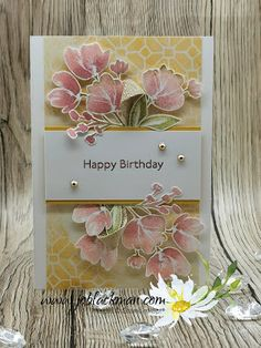 Stampers Showcase Blog Hop - Spring Has Sprung... Stampin Up Karten, Wrapping Paper Crafts, Homemade Birthday Cards, Beautiful Handmade Cards, Stamping Up Cards, Mothers Day Cards, Card Sketches, Creative Cards, Flower Cards