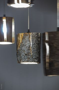 Cracked Log Pendant Lights