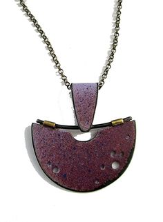 halfmoon painterly necklace by Tish Collins ~ x