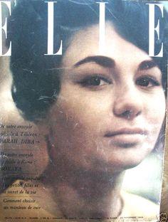 Farah on the cover of Elle magazine, 1959.