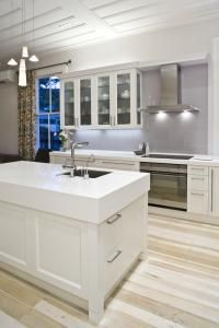 Corian countertops....nice option  trendsideas.com: architecture, kitchen and bathroom design: Well connected