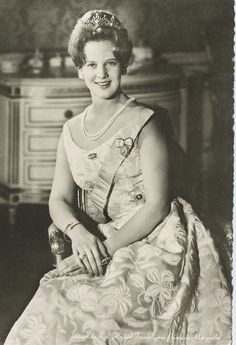 Our beautiful Queen Margrethe of Denmark  The Royal Watcher:  A young Crown Princess Margrethe of Denmark