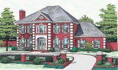 European Style Home Design Plan: 8-518
