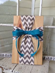 Burlap ribbon cross on wood sign with wire hanger, 18 tall x 11 wide Can be customized with different stains or left unfinished, ribbon color of your choice. Please note which style youd like when you order 3-4 business day turnaround Shipping rates are calculated by Etsy directly based on your location, and rates are due to the weight (4+ lbs) and size of this item when shipped. USPS ground shipping is typically lower than Priority. Please feel free to message me with questions