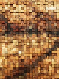 Lululemon Yorkdale by Brothers Dressler - timber mosaic facade Rustic Wood Decor, Reclaimed Wood Art, Rustic Wall Art, Wood Wall Decor, Wooden Wall Art, Wooden Walls, Diy Wood, Wood Mosaic, Mosaic Art