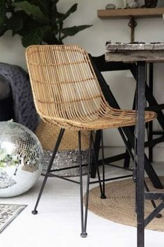 Leather, Fabric and Wooden Dining Chairs | Rockett St George Wicker Bar Stools, Dining Room Table Chairs, Upholstered Dining Chairs, Bar Chairs, Dining Room Design, Rattan Chairs, High Chairs, Console Table, Metal Chairs