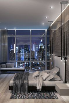 Modern Apartment Living Room Interior Design Beautiful Luxury Apartments Archives Luxury Decor Home Style Modern Bedroom Design, Contemporary Bedroom, Home Interior Design, Bedroom Designs, Luxury Interior, Modern Interior, Luxury Loft, Modern Luxury, Modern Bedrooms