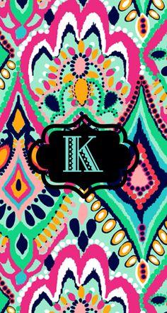 K monogram wallpaper by Kyla R. #LilyPulitzer Found on -http://wonderpiel.com/