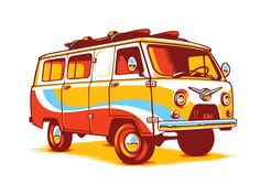 USSR Hippie Van by Alex Ricochet