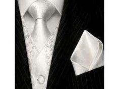 gravata e lenço de seda