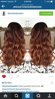 Warm dark brown to copper balayage. Fave one do far. I think that I could pull this off