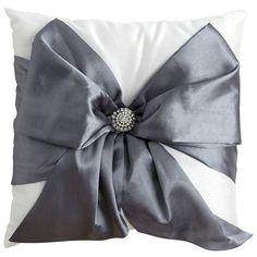 Silver Bow Pillow