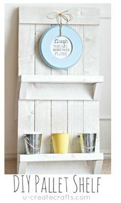 DIY Pallet Shelf & Free Printable by U Create