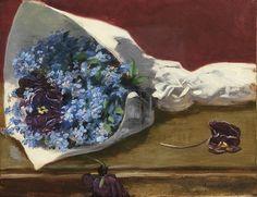 Eva Gonzalès (French, 1849 - Bouquet de fleurs (c. (via Sotheby's) Art Floral, D Flowers, Mary Cassatt, Edgar Degas, Art Moderne, French Artists, Floral Bouquets, Edouard Manet, Female Art