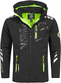 Geographical Norway Vantaa Men's Softshell Jacket Outdoor Function Waterproof - Two side pockets with zipper Hood removable Hood with drawstring Geographical Norway, Captain America Leather Jacket, Kids Winter Jackets, Superdry Jackets, Mens Outdoor Clothing, Mens Raincoat, Navy And Green, Outdoor Outfit, Mens Sweatshirts