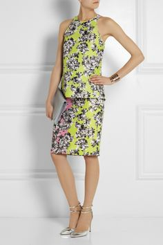 J.Crew | Collection Mirror floral-print piqué pencil skirt