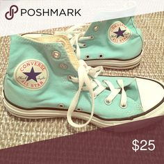 CONVERSE Chuck Taylor High Tops Turquoise Converse Shoes Sneakers