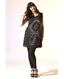 Sequins & Pearls Sequin Tunic - Length from 33in - I love the Art Deco look to this!