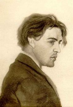Anton Chekhov, 1882, at 22 years. Drawing by his brother.
