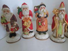 Victorian Santa Clause Figures Bisque Santa's by ReVintageLannie