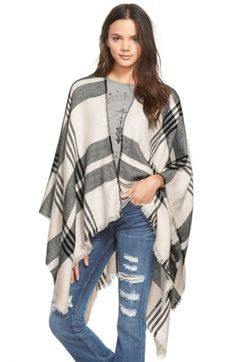 Free shipping and returns on BP. Plaid Poncho at Nordstrom.com. Throw this lightweight woven layer over your favorite summer outfits to extend their life well into fall. This monochrome plaid topper has subtly fringed raw edges.