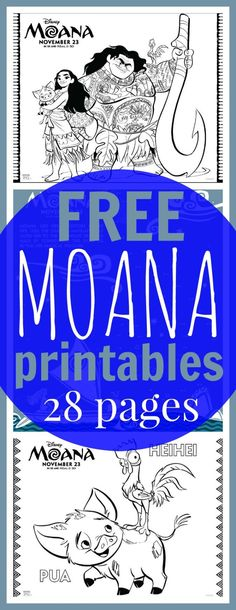 "The post ""FREE Printable Moana Coloring Sheets + Kids Activities & Raising Whasians"" appeared first on Pink Unicorn 6th Birthday Parties, Third Birthday, Birthday Fun, Moana Birthday Party Ideas, Moana Theme Birthday, Birthday Ideas, Moana Coloring Sheets, Bolo Moana, Moana Crafts"