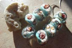 stoursglass Ocean Inspired Lampwork Beads by stoursglass on Etsy