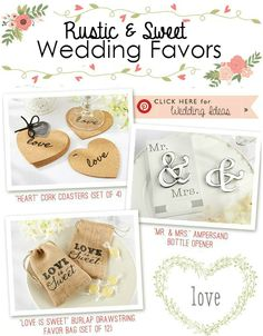 Rustic Wedding Ideas & Barn Wedding | Discover personalized wedding favors and wedding decor at www.EventDazzle.com + sign up for a Free Dedicated Wedding Stylist to help find you the PERFECT wedding favors.