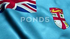Flag of Fiji - Seamless looping - Stock Footage | by panuwatsexy