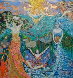 The developmental task of the Maiden Stage is discovering individual creative potential. The developmental task of the Mother Stage is accepting responsibility. The developmental task of the Crone Stage is sharing wisdom ~ Linda Savage Earth Goddess, Goddess Art, Art Magique, Divine Mother, Triple Goddess, Sacred Feminine, Mystique, Mermaid Art, Gods And Goddesses