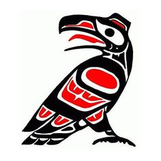 Stylish cross stich pattern of a beautiful raven